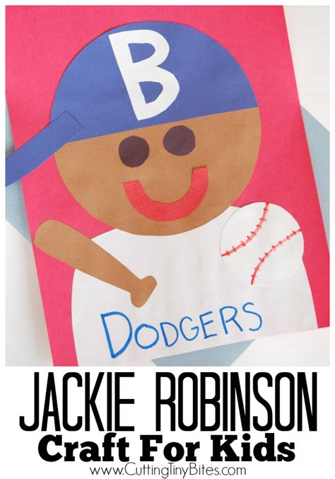black history month arts and crafts projects jackie robinson craft cutting tiny bites