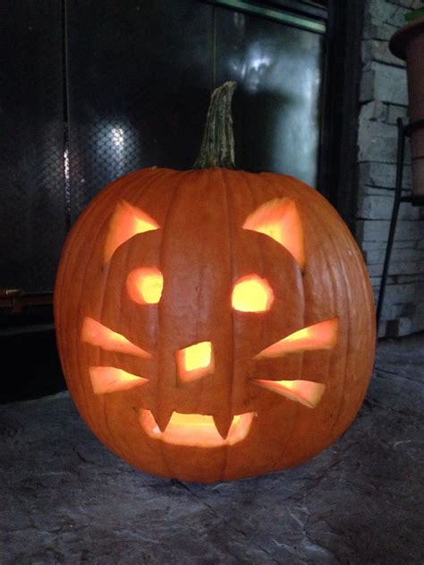 cat jack o lantern fall halloween pinterest