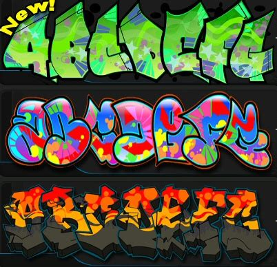 lettere alfabeto graffiti the graffiti creator create i vostri graffiti il