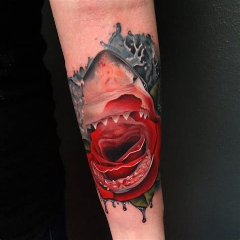 bloody rose tattoo great shark pictures tattooimages biz