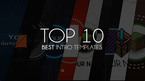 Top 10 Best Intro Templates Of 2013 Youtube Best Intro Templates