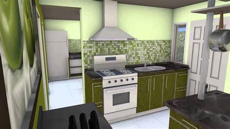 sala de estar lavadero  cocina animacion  render