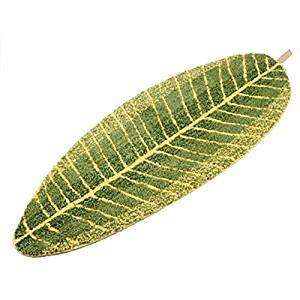 Leaf Shaped Rug by Luxbon Green Leaf Shaped Oval Bathmat Living