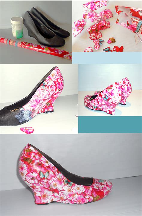 Decoupage Shoes Diy - 15 adorable diy tutorials how to make a new shoes from