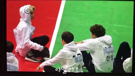 exo isac 170116 isac 2017 bts jimin and exo chanyeol interaction