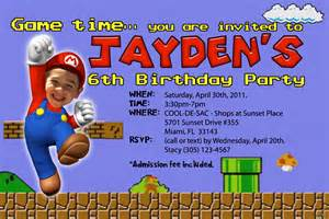 items similar to mario brothers invitations custom designed with your child as mario on etsy