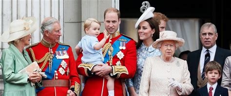 royal family prince george steals show at elizabeth ii s birthday celebration abc news