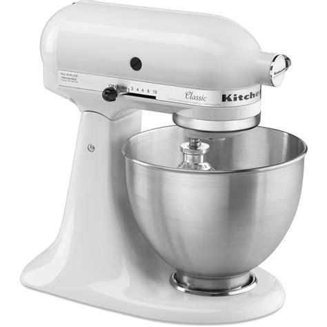 home kitchen aid kitchenaid classic 4 5 qt tilt head white stand mixer
