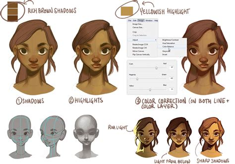 sketchbook pro hair tutorial how to draw faces step by step