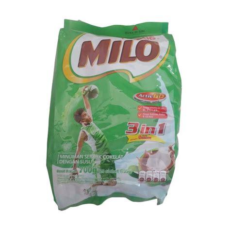 Milo 3 In 1 Sachet 700gr nestle milo 3 in 1 active go 700gr 20x35gr daftar harga