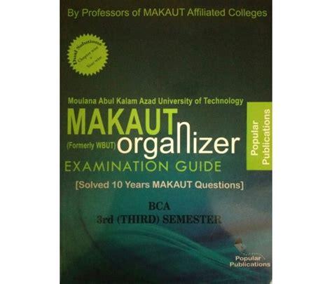 Makaut Mba 3rd Sem Syllabus by Makaut Wbut Organizer Bca 2nd Year 3rd Semester