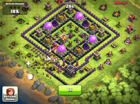 layout of coc clash of clans town hall level 9 layout farming www