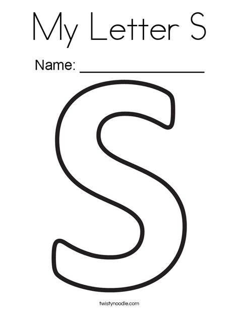 letter s coloring pages my letter s coloring page twisty noodle