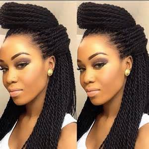 senegalese twist using marley hair marley twist aa hairstyles pinterest