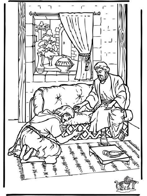 Acts 5 Coloring Pages by Ananias Color Page Book Of Acts