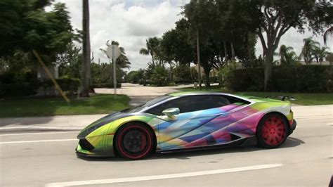 lamborghini rally car world s craziest wrapped lamborghini huracan on goldrush
