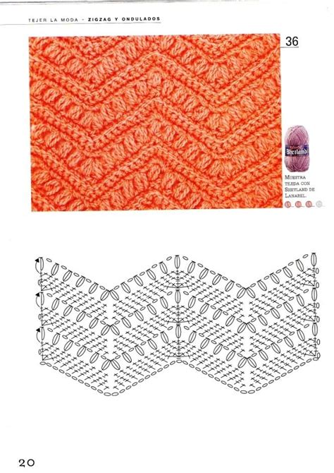 Zig Zag Crochet Pattern With Stitch Diagram | 66 best chevron images on pinterest