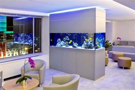Hotels With Aquariums In The Room by 100 Ideas Integrate Aquarium Designs In The Wall Or In The