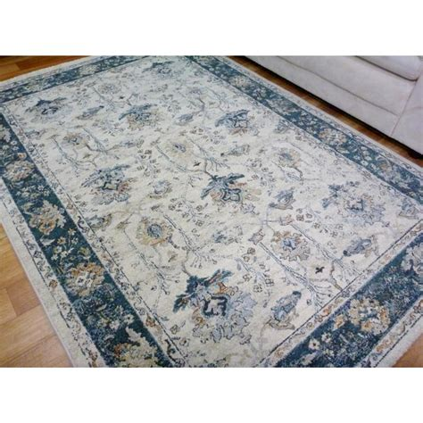 rugs and blinds classical design floor area rugs subdued shades blue border allover pattern free