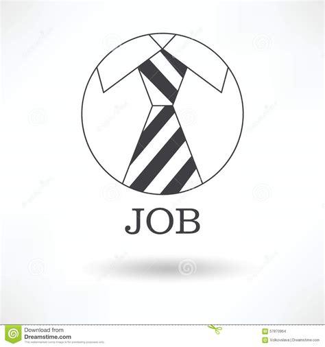 work from home logo design jobs the logo symbol tie office job stock vector image