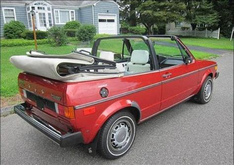 volkswagen rabbit convertible for sale 1981 volkswagen rabbit convertible rear quarter german