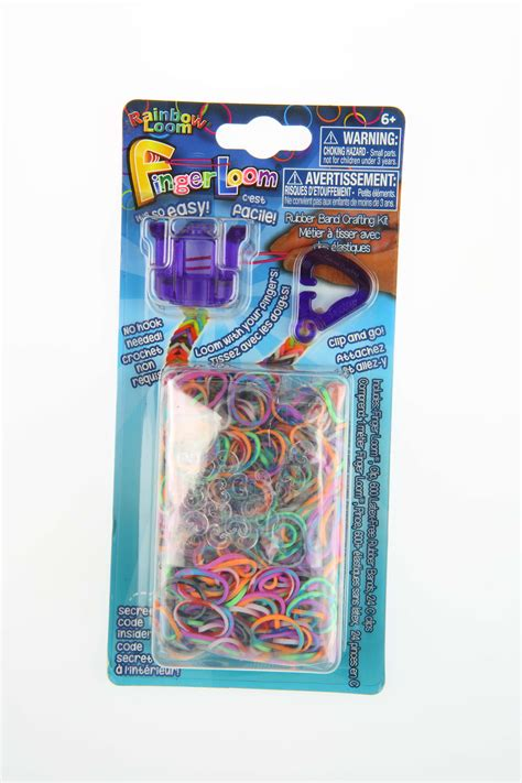 Rainbl Finger Loom Purple finger loom violet purple colour rainbow loom