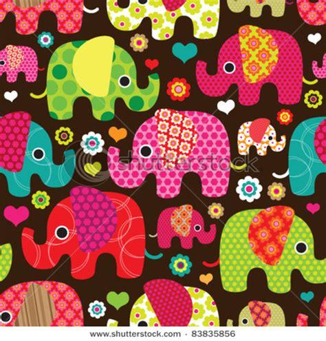 girly elephant wallpaper seamless retro elephant kids pattern wallpaper background