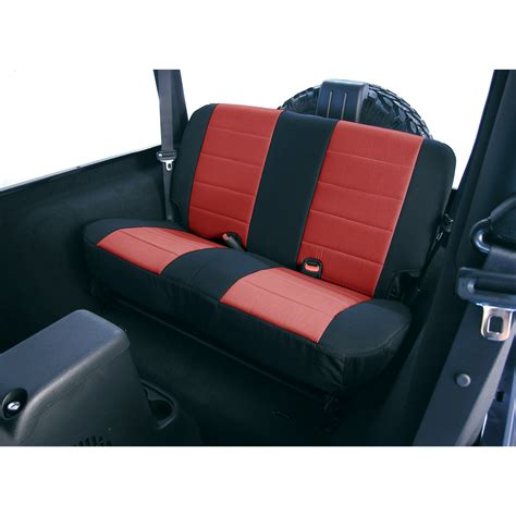 Neoprene Jeep Seat Covers Neoprene Rear Seat Covers 80 95 Jeep Cj Wrangler Yj