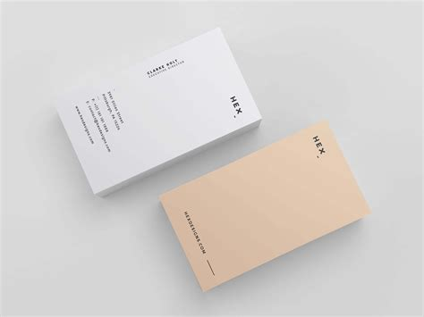 Hex Business Card Print Template Business Card Print Template