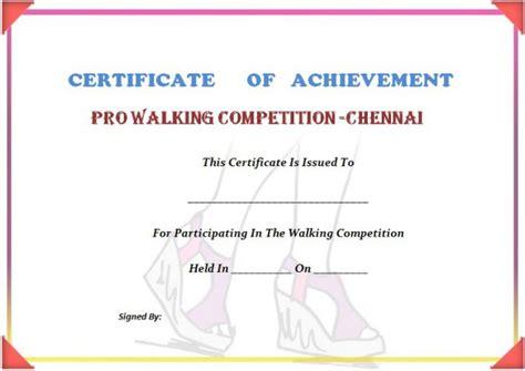 stunning 25 walking certificates editable word templates