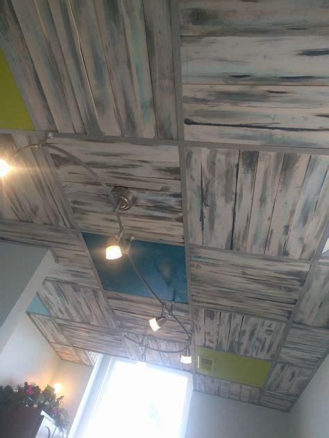 diy pallet board ceiling  place  drop ceiling tiles