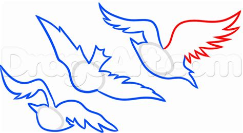 tris bird tattoo how to draw divergent tris birds step by step