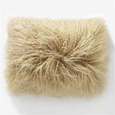 Mongolian Lambswool Pillow by Mongolian Pillow Cover Pebble 12 Quot X16 Quot West Elm