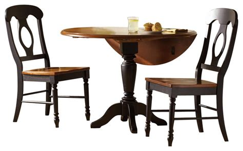 piece 42 inch round dining room set in antique oak liberty furniture low country black 3 piece 42 inch round