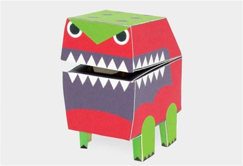 How To Make Paper Monsters - transform a sheet of paper into an awesome robot with