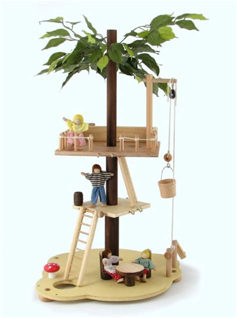tree house doll house waldorf wooden tree house toy dollhouse fairy house quotes