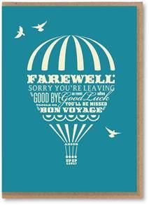 a farewell card the curiosity gallery