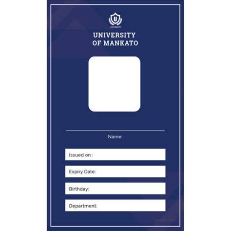 school id card blank template 17 id card templates free psd documents free