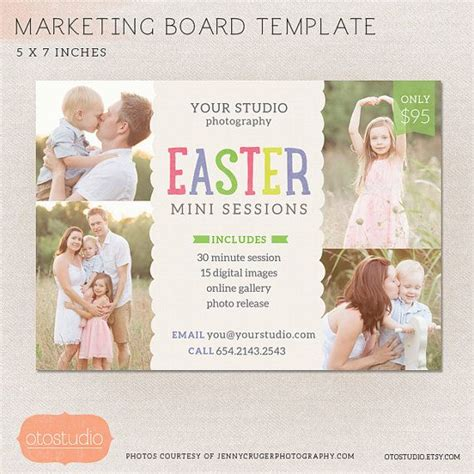 mini session templates for photoshop easter mini session photography marketing board easter