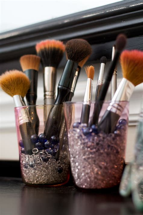 Vase Filler For Makeup Brushes by Adding Some Glitz To The Vanity Glitter Goat Cheese