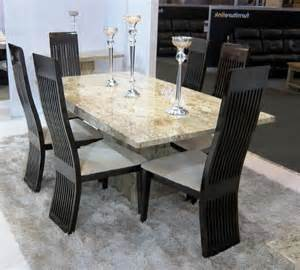 Marble Kitchen Tables And Chairs Marble Dining Tables And Chairs Marceladick