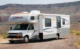 rv motor homes picture of a class c motorhome rv cabover style slide