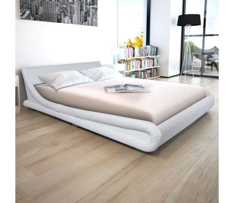 Matras Bed No 1 vidaxl bed met matras kunstleer 160x200 cm wit