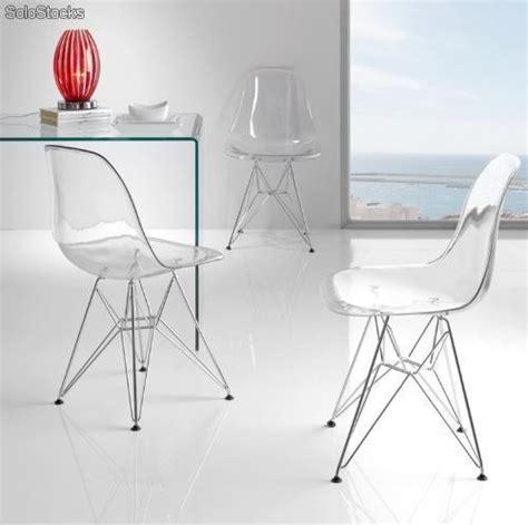silla transparente segunda mano silla eames dsr transparente cristal