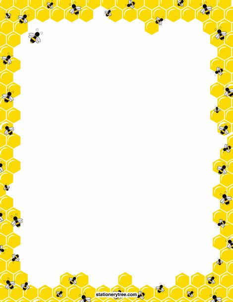 bee writing paper printable bee stationery and writing paper free pdf