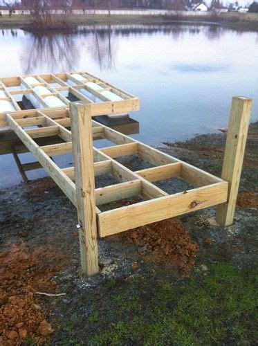 how to build a boat dock with plastic barrels my floating dock build property projects construction