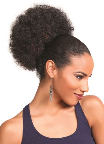 large afro puff ponytail featured hairstyle curly updos curly by nature