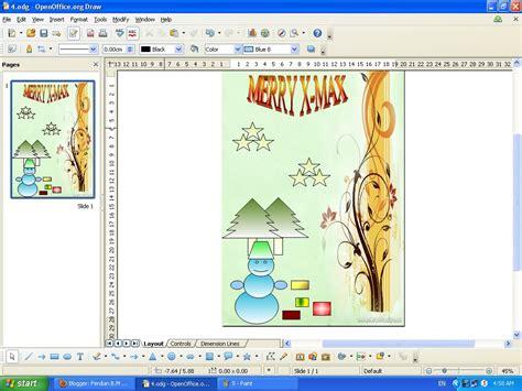 membuat kartu ucapan natal dengan coreldraw cara membuat kartu natal dengan openoffice draw ferdian b m