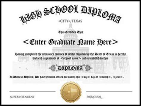 Member Benefits Texas Home School Coalition Thsc High School Diploma Template With Seal