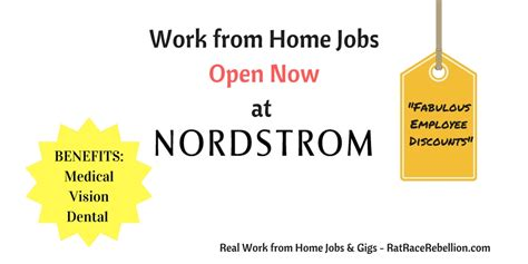 work from home at nordstrom with benefits hiring
